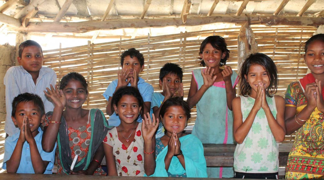 Children at Bijay Basti school