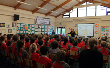 3rd and 4th class Readathon Assembly 2015, Scoil Mochua, Celbridge.