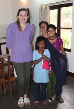 Emily (on Left) our wonderful documentary photographer for the 2015 Nepal trip.