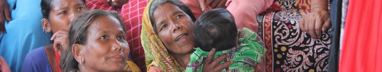Tharu women at a Village Alive meeting: Harshahi village, Sindhuli district, Nepal