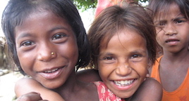 Children in Dhamaura village, supported by Nepal Leprosy Trust