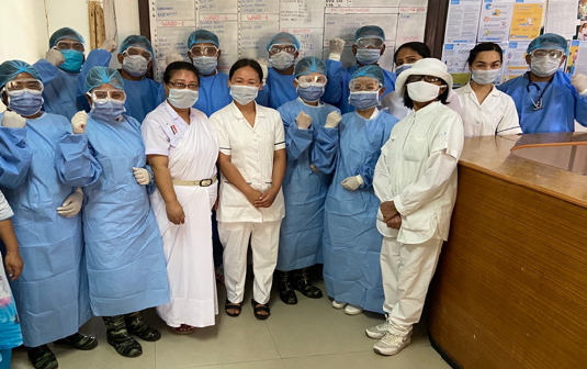 Medical staff at Lalgadh Leprosy hospital ready for COVID-19 patients